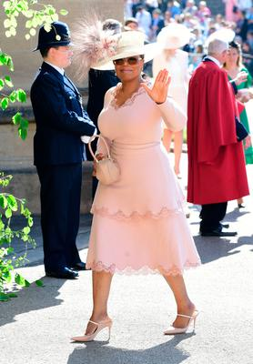 Oprah Winfrey arrives at St George's Chapel at Windsor Castle for the wedding of Meghan Markle and Prince Harry. PRESS ASSOCIATION Photo. Picture date: Saturday May 19, 2018. See PA story ROYAL Wedding. Ian West/PA Wire