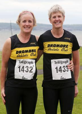 Northern Ireland- 23rd May 2014 Mandatory Credit - Photo-Jonathan Porter/Presseye.  Belfast Telegraph RunHer 10k coastal challenge from Seapark to Crawfordsburn.  Left to right.  Wendy Fleming and Janice Reid from Dromore AC at Seapark before the race.
