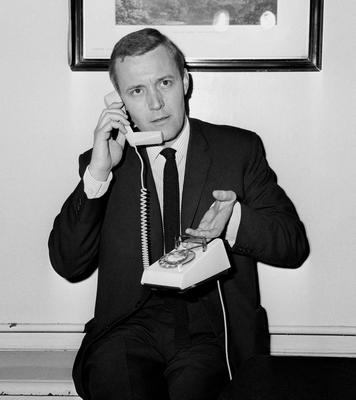 """File photo dated 10/05/65 of Tony Benn demonstrating the """"Trimphone"""". The veteran politician died at home today at the age of 88, his family said in a statement. PRESS ASSOCIATION Photo. Issue date: Friday March 14, 2014. See PA story DEATH Benn. Photo credit should read: PA/PA Wire"""