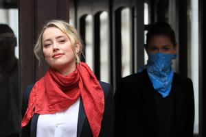 Actress Amber Heard arrives at the High Court (Aaron Chown/PA)
