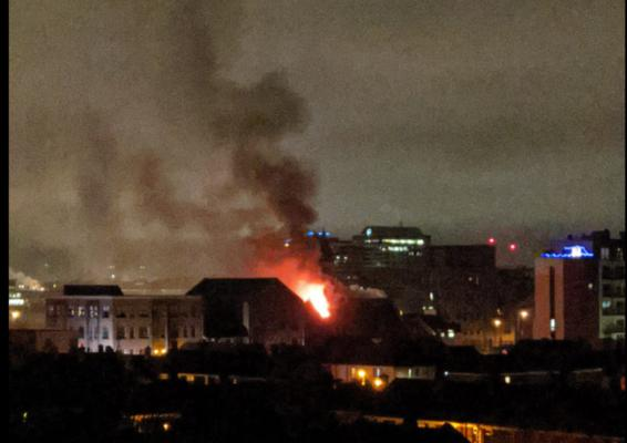 A view of the blaze on Donegall Pass.