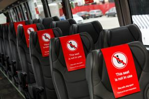 Passengers will be prevented from sitting in aisle seats (National Express/PA)