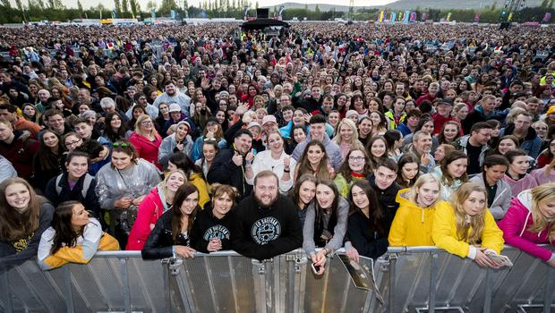 Fan out to see Ed Sheeran performing at Boucher Road Playing Fields, Belfast. Wednesday 9th May 2018. Picture by Liam McBurney/RAZORPIX
