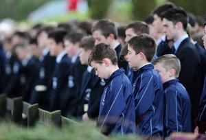 Oisin Mc Grath Funeral - St Patrick's Chruch - Holywell, Co Fermanagh Presseye Declan Roughan  The funeral took place yesterday of Oisin McGrath (15 September 2001 - 12 February 2015) who died following an incident at his school, St Michael's College Enniskillen.