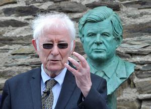 File Pics Seamus Heaney Has Died Today.22/06/2013. Kennedy homecoming. Seamus Heaney pictured as a bust of the late Senator Edward Kennedy is unveiled at the Kennedy homestead in Dunganstown Co Wexford. Photo: Laura Hutton/Photocall Ireland