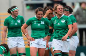 Mixed emotions: Ashleigh Baxter can't hide her feelings as Ireland lost to Wales