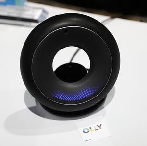 The Olly personal assistant is displayed at the Emotech booth during CES Unveiled before CES International, Tuesday, Jan. 3, 2017, in Las Vegas. The personal assistant is designed to adapt how it interacts with a person based on the person's mood and personality. (AP Photo/John Locher)