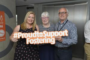 Daniel & Mary Maechling, Foster Carers and Nikki Gregg, Head of Operations, The Fostering Network.