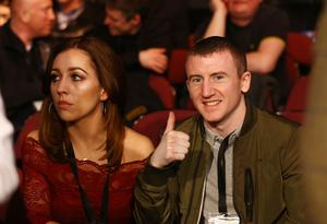 Paddy Barnes pictured at the Manchester Arena as they prepare to watch Carl Frampton and Scott Quigg during Saturday nights World Super-Bantamweight unification clash.