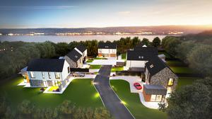 An artist's impression of what the new Twisel Brae luxury housing development will look like