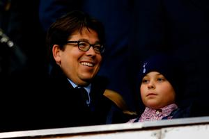LONDON, ENGLAND - APRIL 25:  Michael McIntyre attends the Barclays Premier League match between Tottenham Hotspur and West Bromwich Albion at White Hart Lane on April 25, 2016 in London, England.  (Photo by Julian Finney/Getty Images)