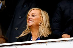 LONDON, ENGLAND - APRIL 25:  Emma Bunton attends the Barclays Premier League match between Tottenham Hotspur and West Bromwich Albion at White Hart Lane on April 25, 2016 in London, England.  (Photo by Julian Finney/Getty Images)