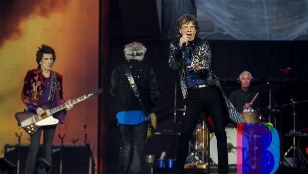 Rolling Stones Mick Jagger, Keith Richards, Brian Jones, Ronnie Wood on stage at Croke Park, Dublin for their first night of their 'STONES - NO FILTER' 2018 tour. Thursday 17th May 2018. Credit: Liam McBurney/RAZORPIX