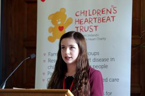 Lucy Allen at the Children's Heartbeat Trust event