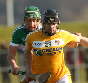 High hopes: Ballycastle's Ciaran Clarke lines up for McQuillans in their first Antrim final since 2001