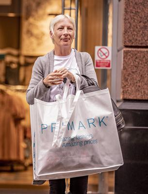 Number five in the queue was Karen Magee from east Belfasas Primark in Belfast city centre reopens on June 18th 2020 (Photo by Kevin Scott for Belfast Telegraph)
