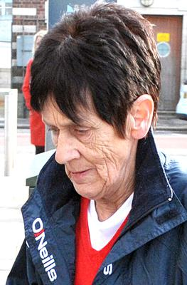 Donna Quinn's mother Patricia (Pat) at Belfast Coroner's Court for Arlene Arkinson's inquest