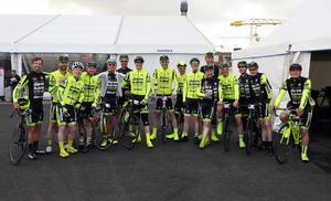 Mambers of the Dave Kane Cycle Club ahead of the start of the Gran Fondo. Pic: Freddie Parkinson/Press Eye.