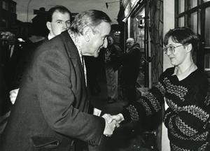 File Pics Albert Reynolds Has Died. Taoiseach and Fianna Fail leader Albert Reynolds canvassing in Kerry. 10/11/1992 Pic Leon Farrell/Photocall Ireland
