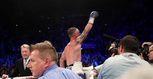 Press Eye - Belfast -  Northern Ireland - 21st April 2018 - Photo by William Cherry/Presseye  Carl Frampton defeats Nonito Donaire to win the WBO Interim featherweight title at the SSE Arena, Belfast on Saturday night.
