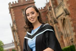 Graduating today from Queen's University Belfast with a First Class Honours in Business Management from Queen's Management School is Dearbhla Kilpatrick.