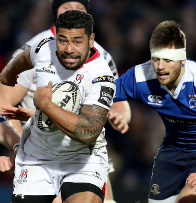 On the charge: Charles Piutau makes a break for Ulster at the RDS