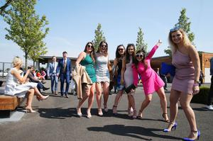 Press Eye - Belfast - Northern Ireland 1st May 2017 - Photo by Kelvin Boyes / Press Eye. Racegoers pictured at the Daily Mirror May Day Meeting at Down Royal Racecourse