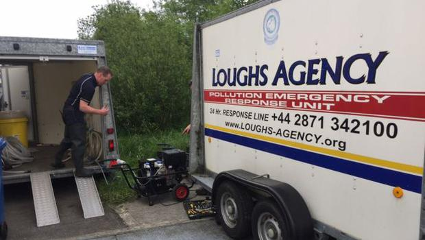 Specialist equipment being used by the Loughs Agency
