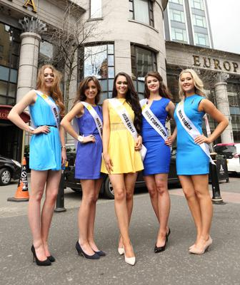 Finalists of the 2014 Open + Direct Miss Northern Ireland contest took part in an intense induction session at the Europa Hotel on Tuesday 29th April, in preparation for the contest final next month. Pictured at the event are (from left) Emma Irvine, Orlaith Boylan, Rebekah Shirley, Bronagh O'Kane, Meagan Daley.