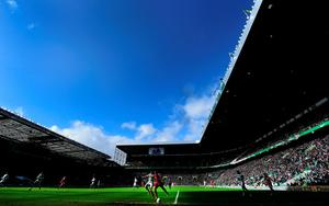 GLASGOW, SCOTLAND - MARCH 01:  A general view of the action during the Scottish Premiership match between Celtic and Aberdeen at Celtic Park Stadium on March 1, 2015 in Glasgow, Scotland.  (Photo by Stu Forster/Getty Images)