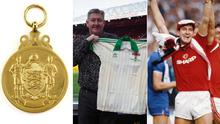 Norman Whiteside's FA Cup medals, Northern Ireland shirt from the 1982 World Cup and Manchester United FA Cup final shirts are expected to be some of the highest priced items.