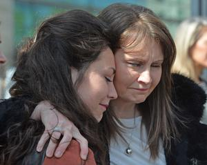 Enda's mother Niamh Dolan with her daughter Dervla after the sentencing yesterday