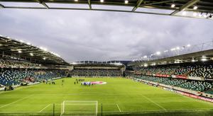 Picture - Kevin Scott / Press Eye  Belfast - Northern Ireland - 8th October 2016 - The National Football Stadium at Windsor Park Opening Game and Ceremony Northern Ireland vs San Marino 2018 FIFA World Cup Qualifier  Photo by Kevin Scott  / Press Eye