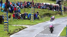 Peter Hickman (Smith's BMW) leads Davey Todd (Wepol Penz13.com BMW) during the 2019 Ulster Grand Prix