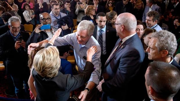 Former Democratic US Presidential candidate Hillary Clinton greets staff and supporters after making a concession speech at the New Yorker Hotel after her defeat last night to President-elect Donald Trump November 9, 2016 in New York. / AFP PHOTO / Brendan SmialowskiBRENDAN SMIALOWSKI/AFP/Getty Images