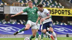 Daniel Ballard put in another impressive performance in the heart of the Northern Ireland defence.