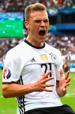 PARIS, FRANCE - JUNE 21:  Joshua Kimmich of Germany reacts during the UEFA EURO 2016 Group C match between Northern Ireland and Germany at Parc des Princes on June 21, 2016 in Paris, France.  (Photo by Alexander Hassenstein/Getty Images)
