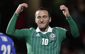 Northern Ireland's Martin Patterson during Tuesday night's World Cup Qualifier at Windsor Park, Belfast
