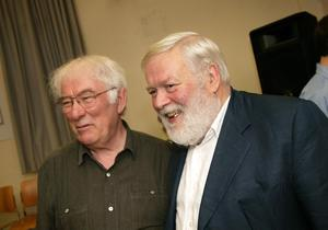 Seamus Heaney and Michael Longley.