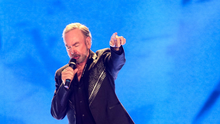 Pictured is Neil Diamond performing on stage at the Odyssey Arena in Belfast on Tuesday 30th June 2015 as part of his two night tour in Belfast. Picture: Kevin Scott