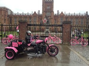 Giro d'Italia Mania begins at Queen's University Belfast.  Queen's is turning pink to celebrate the race passing its front doors.  A carnival of events including a garden party, music and spinathon which are open to the public will take place at 3pm - 8 pm tomorrow.