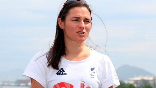 Dame Sarah Storey during the ParalympicsGB Flagbearer announcement ahead of the 2016 Rio Paralympic Games, Brazil. PRESS ASSOCIATION Photo. Picture date: Tuesday September 6, 2016. Photo credit should read: Adam Davy/PA Wire. EDITORIAL USE ONLY