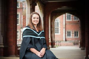 Jessica Buchanan from Jordanstown is graduating from Queen's this week with a BSc in Business Managament. Jessica was shortlisted in the national Undergraduate of the Year Award and will begin a job with BDO after scuring a summer internship with Nestle.