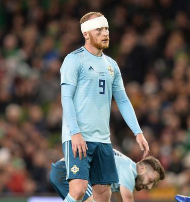 PACEMAKER BELFAST  15/11/18 Republic of Ireland v Northern Ireland International Friendly Northern Ireland's Liam Boyce  during this evenings game  at the Aviva Stadium in Dublin. Photo Colm Lenaghan/Pacemaker Press