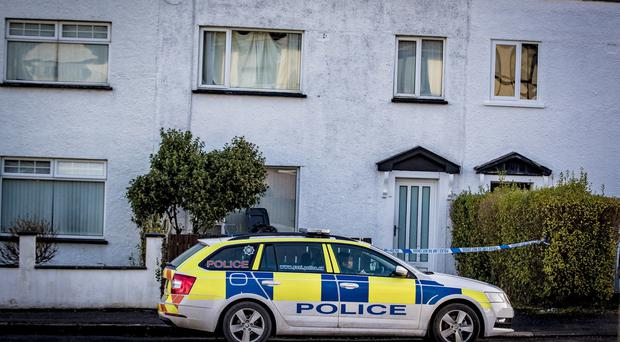 Police at the scene of a sudden death in the Fernagh Drive area of Newtownabbey on December 16th 2019 (Photo by Kevin Scott for Belfast Telegraph)
