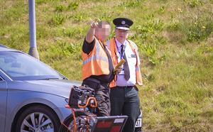 Chief Constable Simon Byrne visits a search location as searches continue close to the Shore Road in north Belfast for Noah Donohoe on June 25th 2020 (Photo by Kevin Scott for Belfast Telegraph)