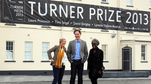 Turner Prize nominees (from left to right) Laure Prouvost, David Shrigley and Lynette Yiadom-Boakye at the 2013 Turner Prize exhibition