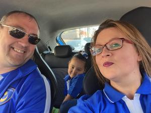Dom Merrix with his partner Sarah and daughter Ellie-Mai (Family handout/PA)
