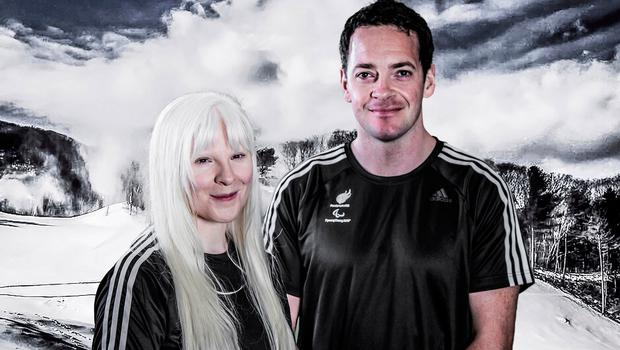 Smiles ahead: Kelly Gallagher and her guide Gary Smith