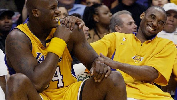 Shaquille O'Neal, left, has paid tribute to Kobe Bryant (Kevork Djansezian/AP)